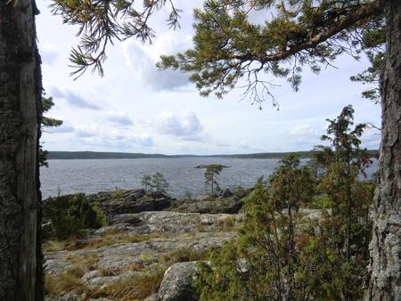 On island of Ladoga lake photo
