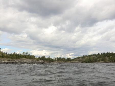 Coast of Ladoga lake photo