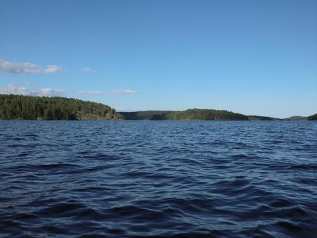 Islands and gulfs on Ladoga lake photo