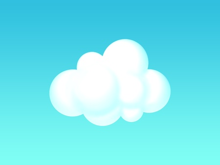 illustration of a cloud Stok Fotoğraf