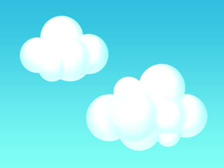 illustration of a pair of clouds illustration