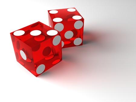 red casino dice photo