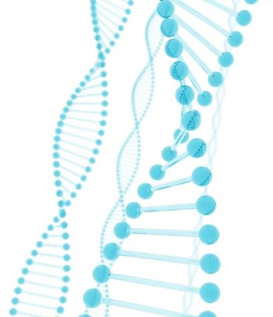 bioengineering: DNA blue glass Stock Photo