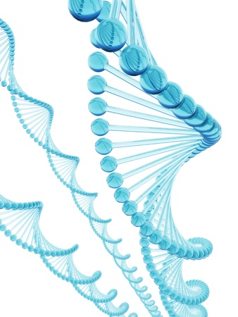 deoxyribonucleic: DNA blue glass Stock Photo