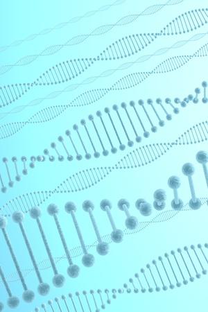bioengineering: DNA on blue background