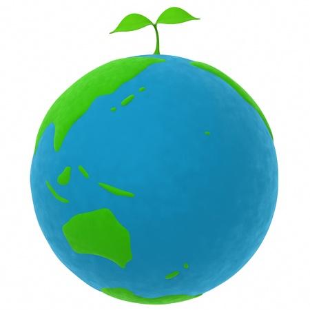 지구와 식물