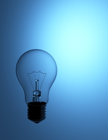 a light bulb on the blue background