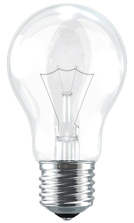 electrical part: a light bulb on the white background