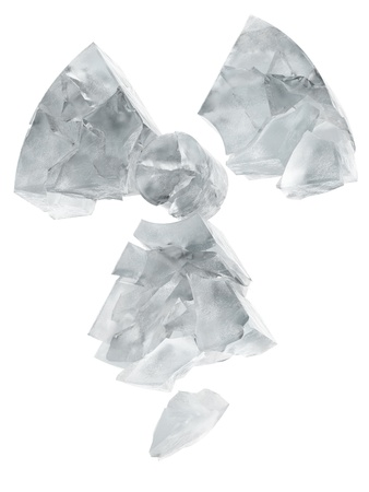 radiactividad: radiactividad de hielo logotipo de congelados
