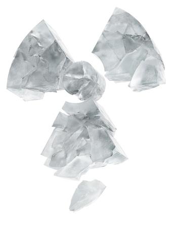 ice crushed: radioactiviteit logo bevroren ijs Stockfoto