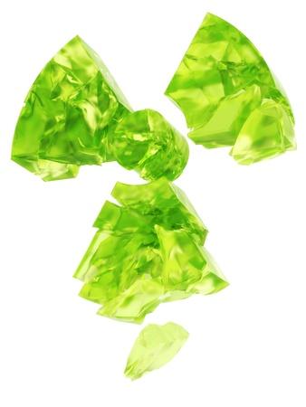uranium: radioactivity logo uranium glass