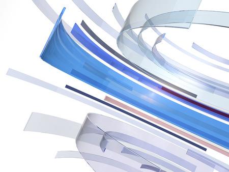 Eine abstrakte Komposition aus Glasmaterial umkreist Standard-Bild - 24748536