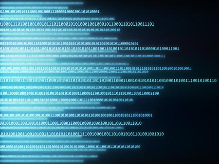 Background image of binary codes in horizontal layout. Reklamní fotografie - 39043744