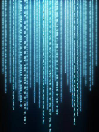 bytes: Background image of binary codes in vertical layout.
