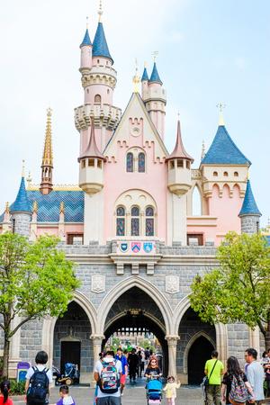 hongkong: Sleeping beautying castle Hong Kong Disneyland in Hong Kong(HK), China
