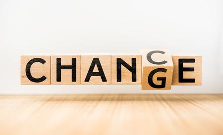 CHANGE & CHANCE concept Stock Photo