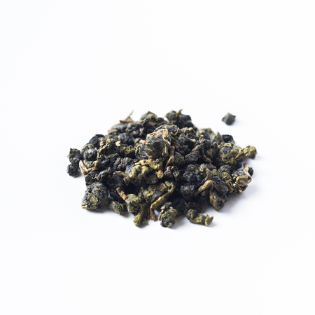 Asia culture and design concept - fresh taiwan oolong tea dry bud