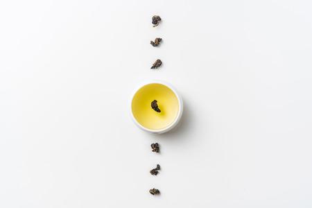 Concept de culture et de design en Asie - thé et tasse oolong de taiwan frais Banque d'images