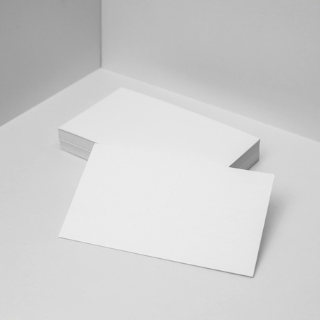 Blank business cards for corporate identity set