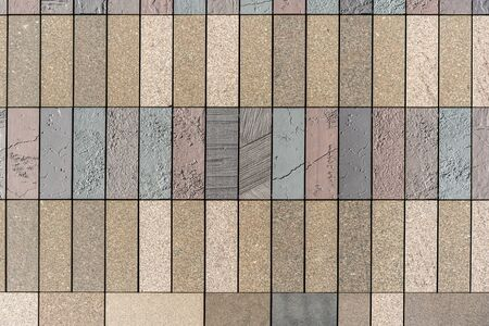 stone tile ceramic brick wall background texture pattern for 3d render and Interiors design, high resolution