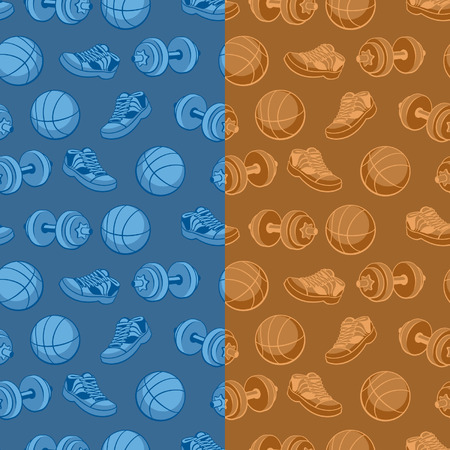 Seamless texture  Sports Science  Background  Vector