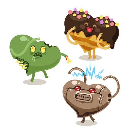 Fun symbols of Valentine Stock Photo - 25653672