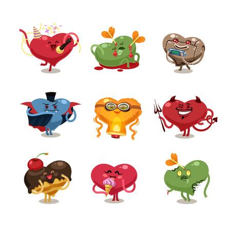 Symbols of Valentines Day.
