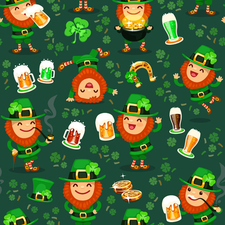 St  Patrick s Day s seamless texture  Editable pattern in swatches  Vector