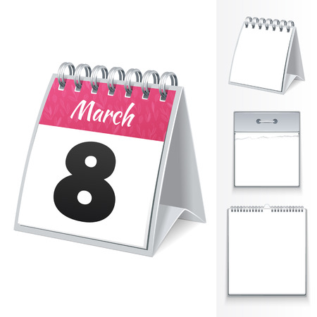 blanc: March 8 calendar and three blanc templates  In the EPS file, each element is grouped separately  Editable pattern in swatches