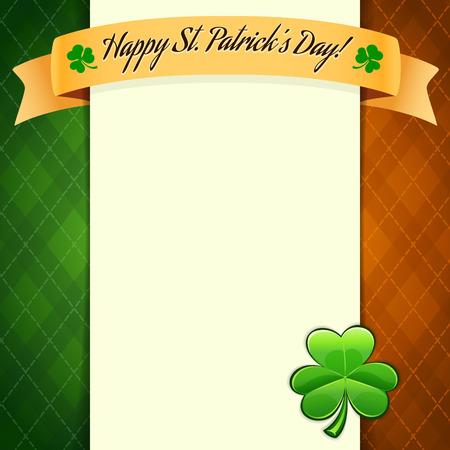 St Patricks Day poster Ilustração