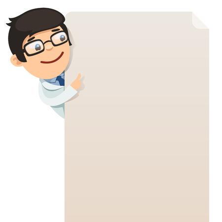 医師は、空白のポスターで、EPS ファイルを見て、各要素がグループ化されて個別に白の背景に分離