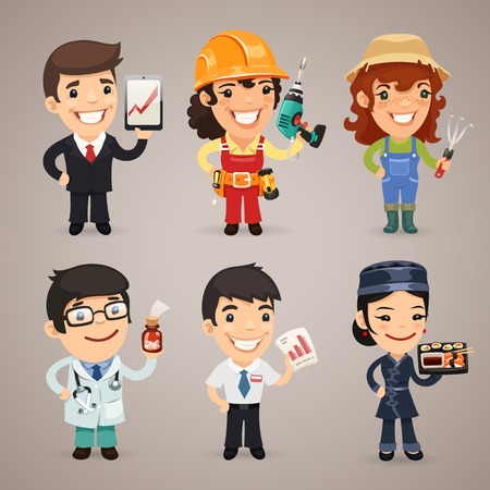 Professions Cartoon Characters Stock Vector - 27255412