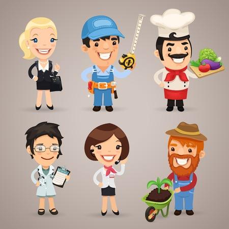 Professions Cartoon Characters