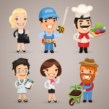 Professions Cartoon Characters