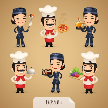 Chefs Cartoon Characters
