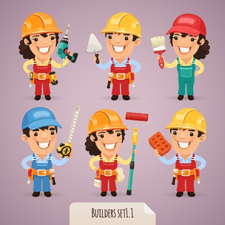 Builders Cartoon Characters