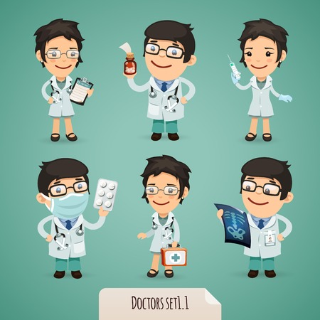 males: Doctors Cartoon Characters
