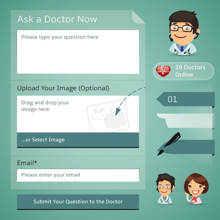 online form: Doctors Online Consultation Form. each element is grouped separately.