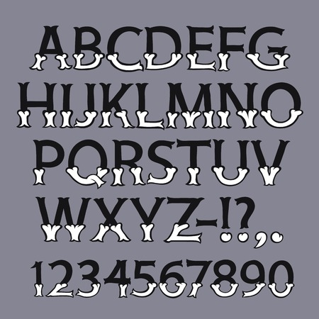 dire: Halloween Bone Font
