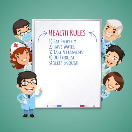 Doctors Presenting White Board