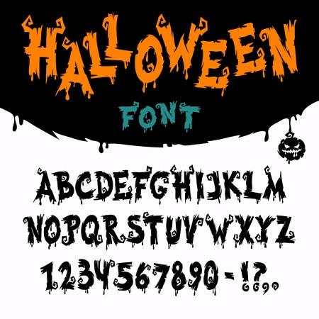 Halloween Vector Font Vector