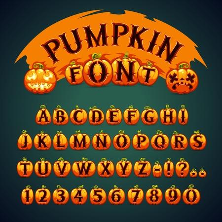 pumpkin: Halloween Pumpkin Font