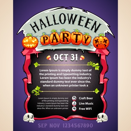 Halloween Party Poster Vector