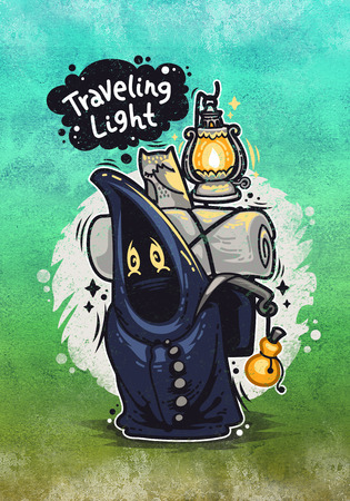 Traveling Light Cartoon Character photo