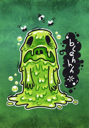 nauseous: Cartoon Nausea Monster