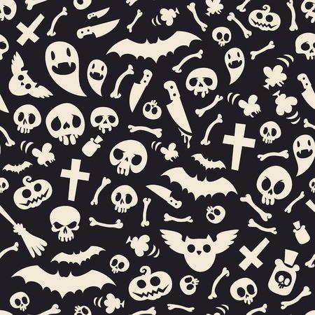 contraste: S�mbolos de Halloween Contraste Modelo incons�til Vectores