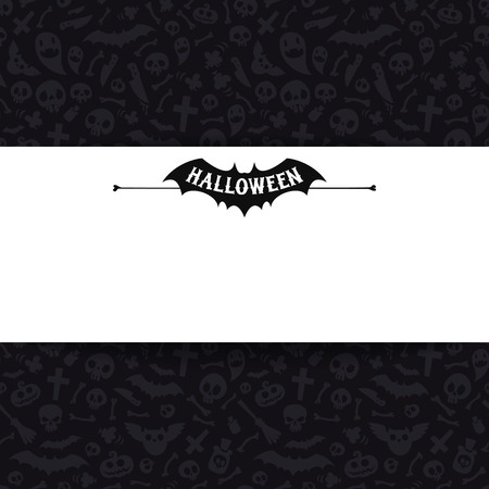 White Paper Sheet on Dark Halloween Background Vector