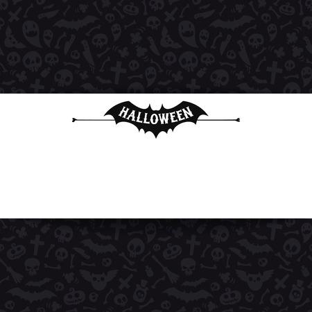 skull and cross bones: White Paper Sheet on Dark Halloween Background