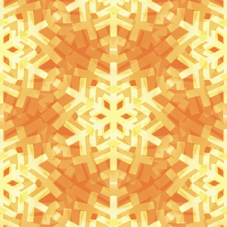 Shiny Gold Light Snowflakes Seamless Pattern for Christmas Desin Illustration