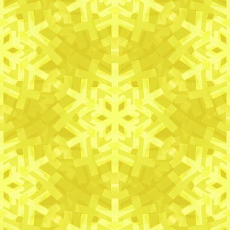 Shiny Lemon Snowflakes Seamless Pattern for Christmas Desing